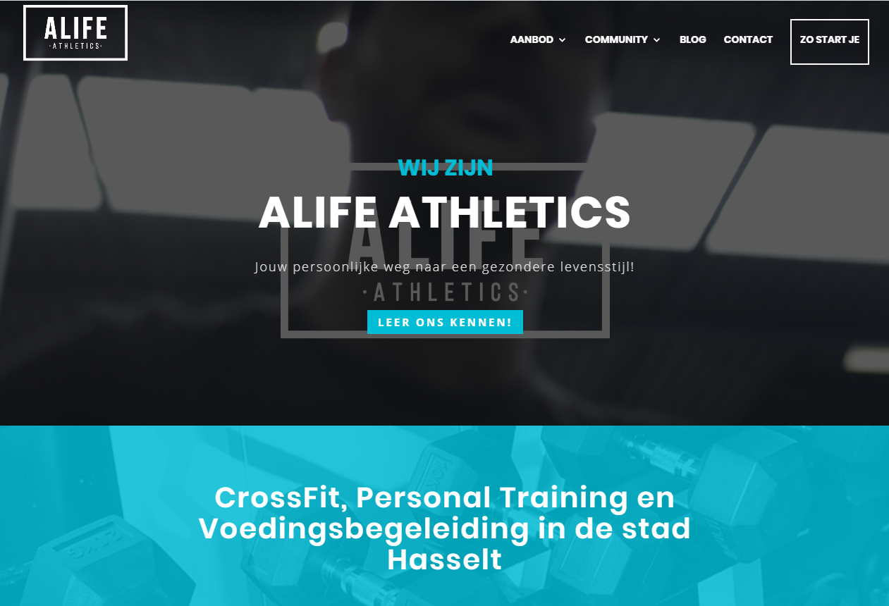 SEO Friendly Home Page - Alife Athletics